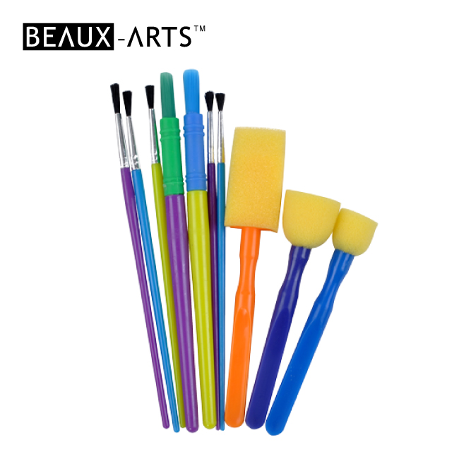 10pcs Hobby Foam Brush Set for Kids Painting
