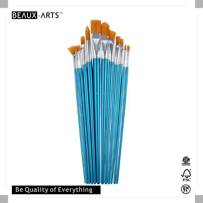 12 Pcs Long Handle Nylon Brush Set in PET Drum