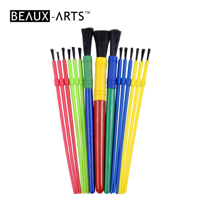 15pcs Hobby Brush Set with PP Nylon Brush for Kids Painting