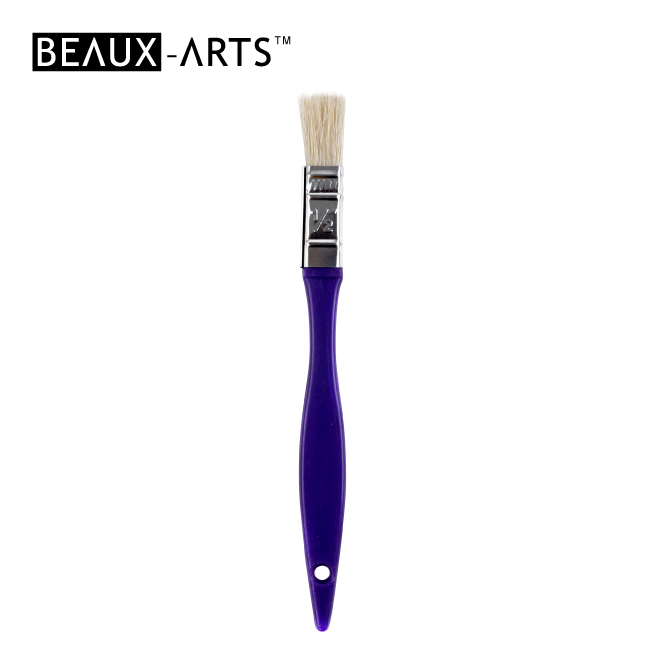 "1/2"" Hog Bristle Kids Flat Brush for Painting"