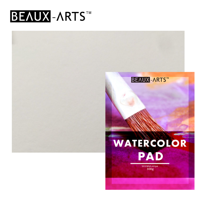 300g White Cotton Middle Texture Watercolor Paper Pad for Artist Painting
