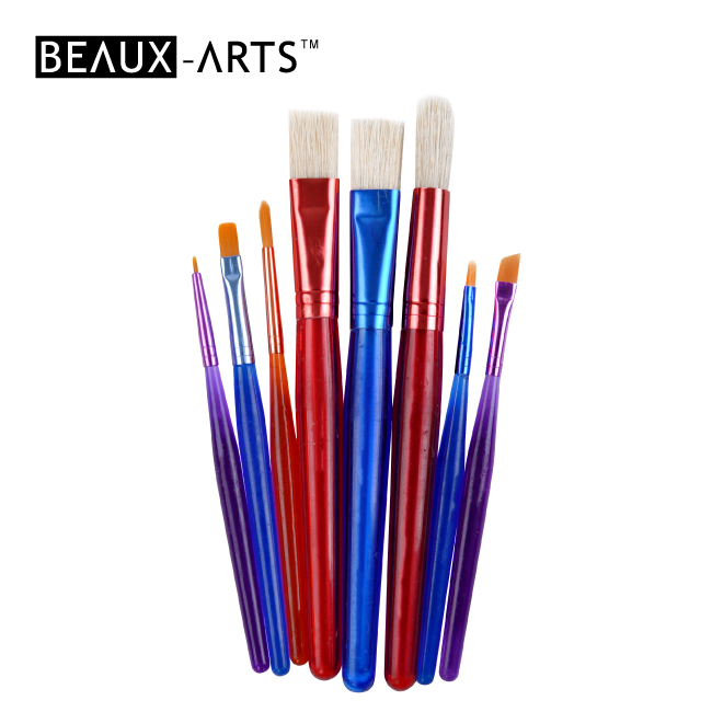 10pcs Chubby Brush Set with a Plastic Palette for Kids Painting