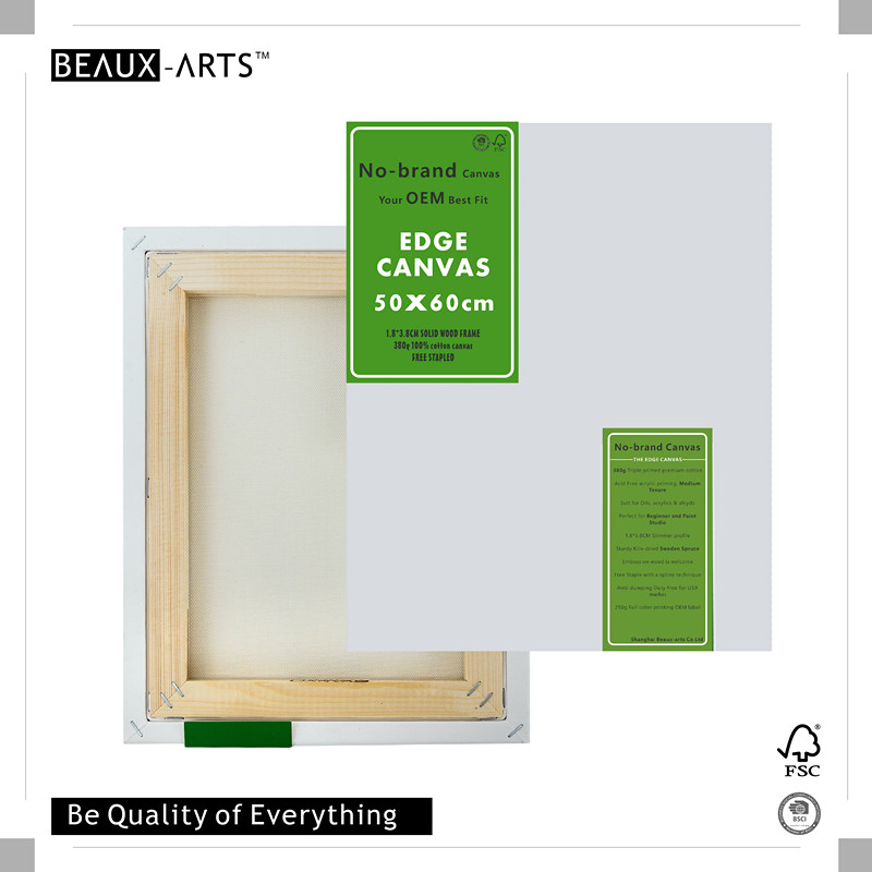 380g Edge Triple Primed Cotton Wholesale Stretched Canvas Art Frames for Paint Studio, Oils acrylics Painting