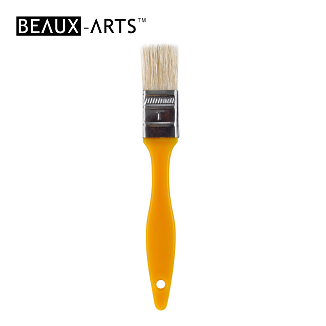 "1"" Hog Bristle Kids Flat Brush for Painting"