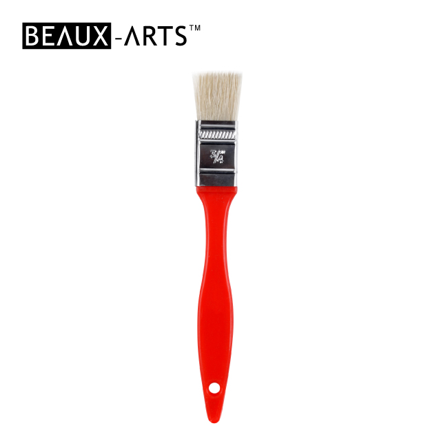 "3/4"" Hog Bristle Kids Flat Brush for Painting"