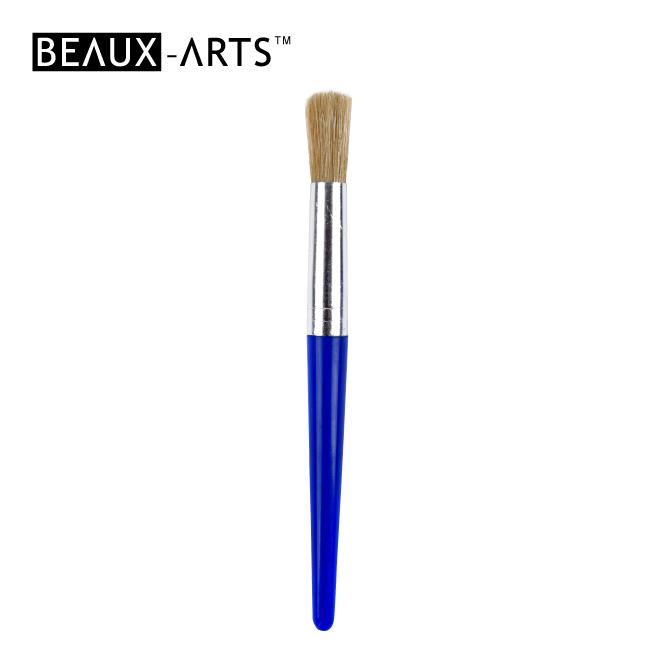 #9 Round Hog Bristle Brush for Kids Painting