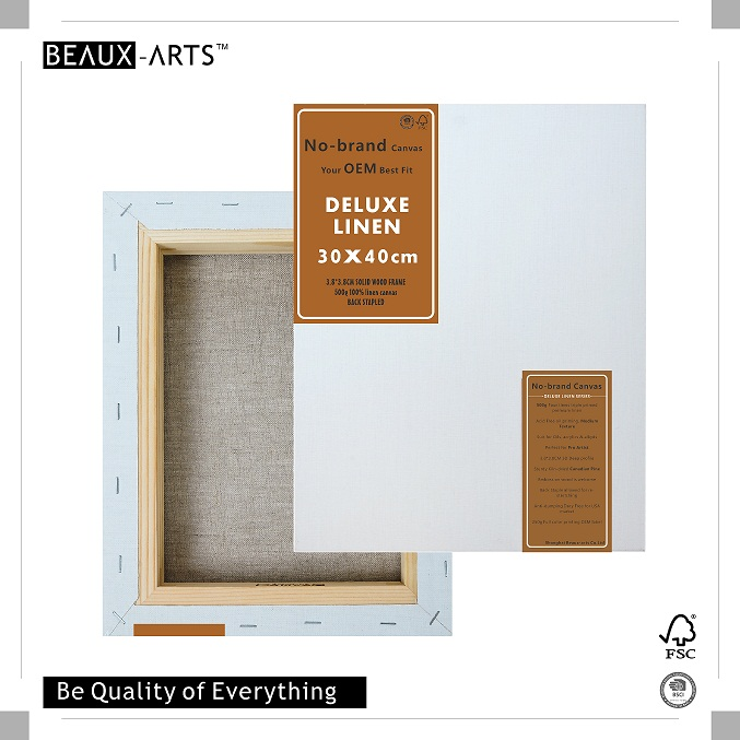 500g deluxe linen framed blank stretched canvas art supplies with