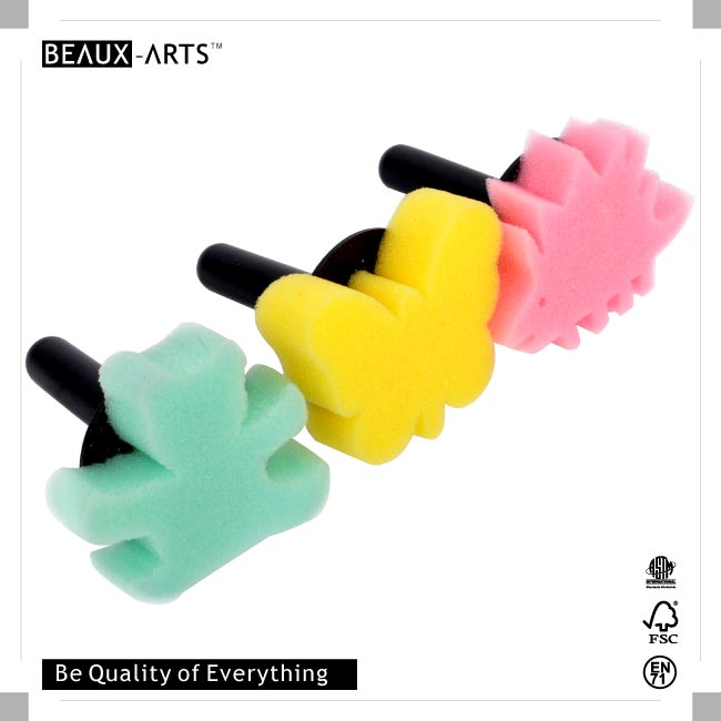 6pcs Foam Stamp with Plastic Handle