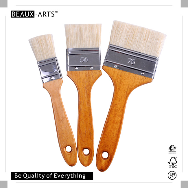 90% ChungKing Bristle Hair Professional Flat Brush with Stainless Steel Ferrule and Comfortable Wooden Handle