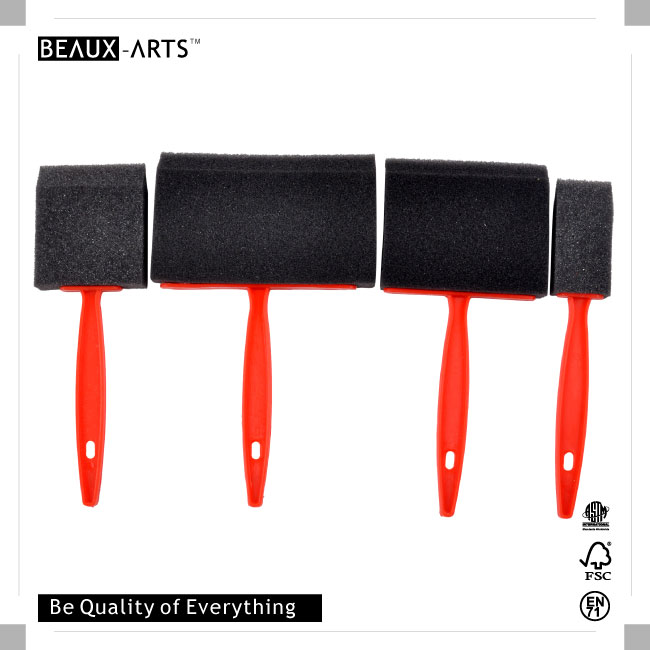 Black Foam Brush with the Red Plastic Handle
