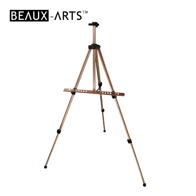 Brown Portable Aluminum Artist Studio Easel