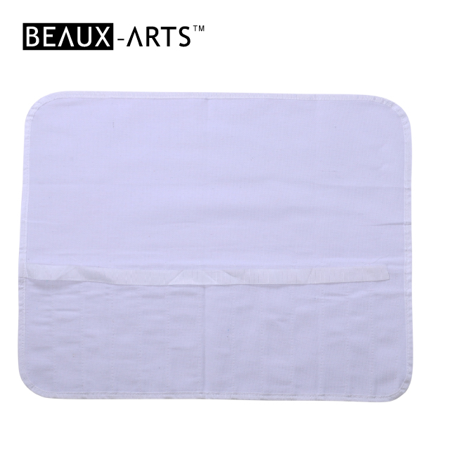 White Cotton Brush Bag Kids and Graft Artist Painting Apron with Multi Pockets