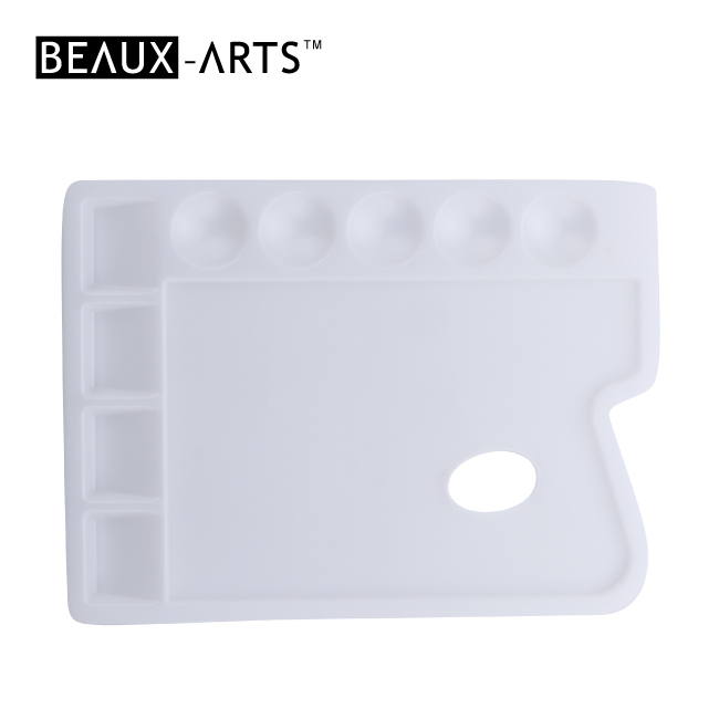 Durable Irregular Professional White Plastic Palette with 9 Wells