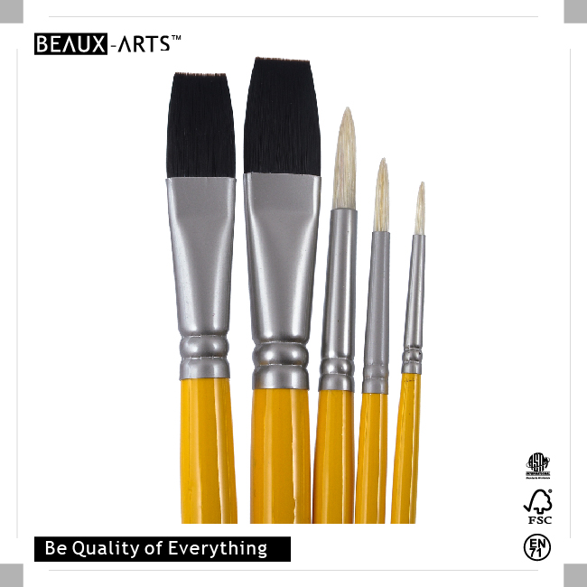 Germany nationality series hog bristle and stiff nylon for Wholesale craft paint brushes