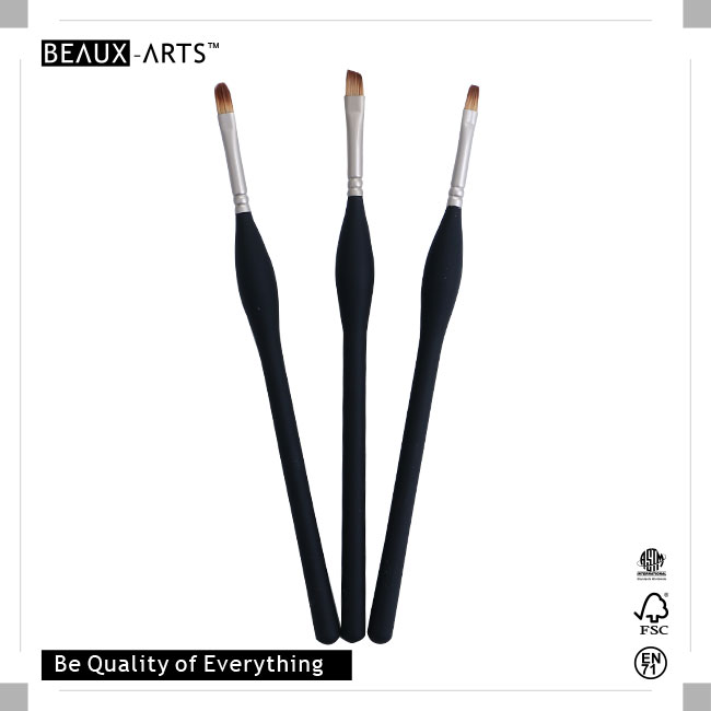 New Types of Brushes Definition with Medium Length Big Belly Comfortable Touch Wooden Handle, Perfect for Students or Professional Usage