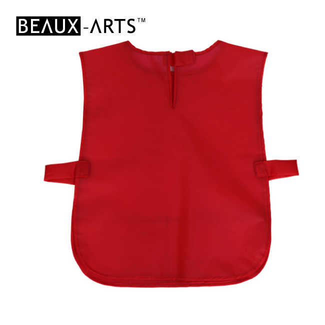 Red Polyester Smock Ordinary Waterproof Sleeveless Kids and Graft Apron