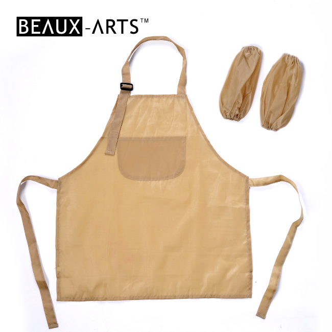 210T Polyester Ordinary Waterproof  Encrypted Sleeveless Kids and Graft Apron with Two Sleevelets with a Pocket Above