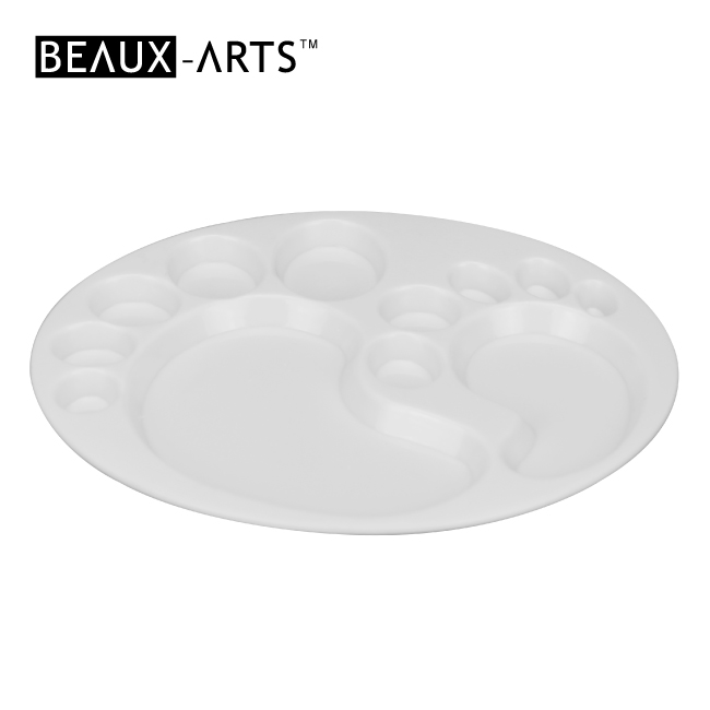 Oval Professional White Plastic Palette Box with Many Holes