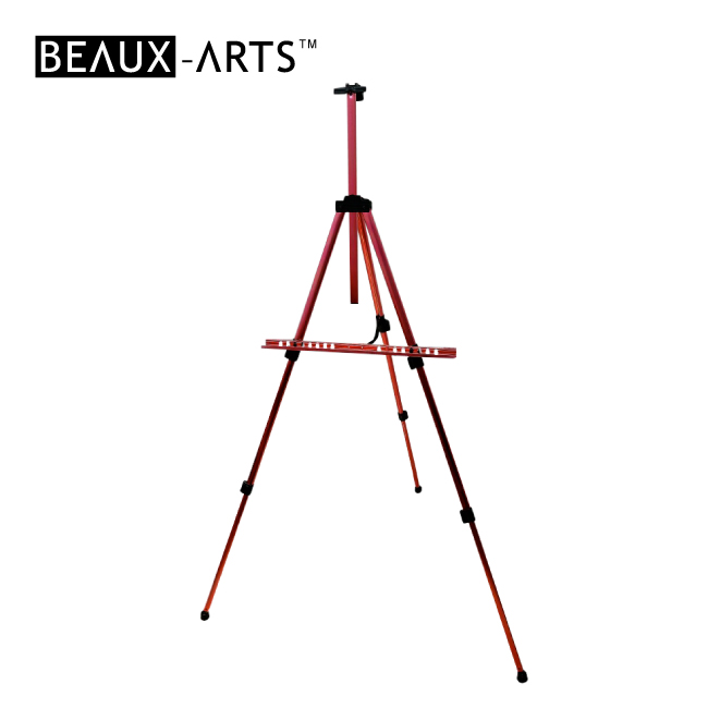 Red Portable Aluminum Artist Studio Easel