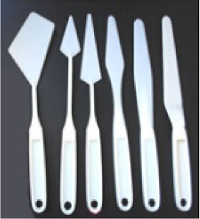 Six Pieces  Plastic Painting Knife for Painting and Crafting
