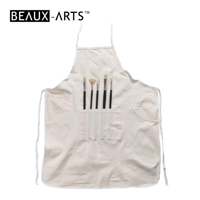 Sleeveless Cotton Smock Kids and Graft Artist Painting Apron with Multi Pockets