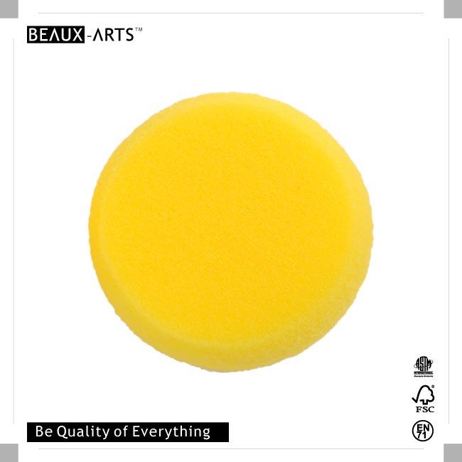 Yellow Round Foam Stamp