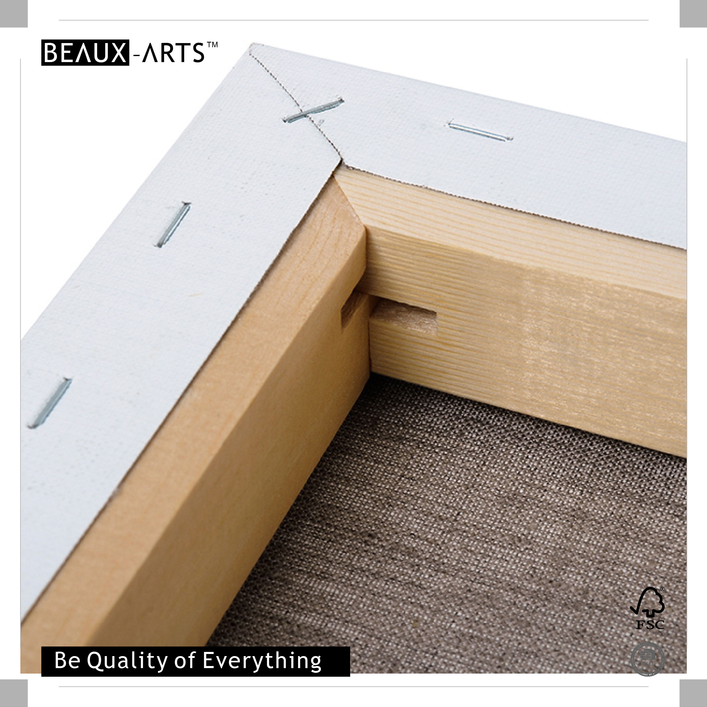 500g Deluxe Linen Framed Blank Stretched Canvas Art Supplies with ...