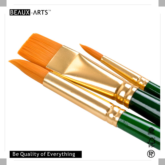 Best Watercolor and Acrylic Painting  Education Series Golden Nylon Brush Art Paint Brush Set Value Pack