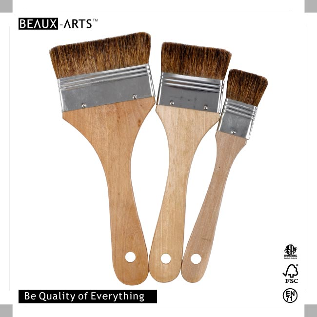 The Best Affordable Pony Hair Flat Brush with Tin Ferrule, Suitable for Students and Beginners