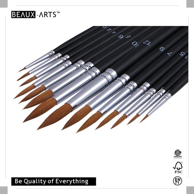 10 dger hair mixed synthetic brass ferrule best paint for Best paint brush brands