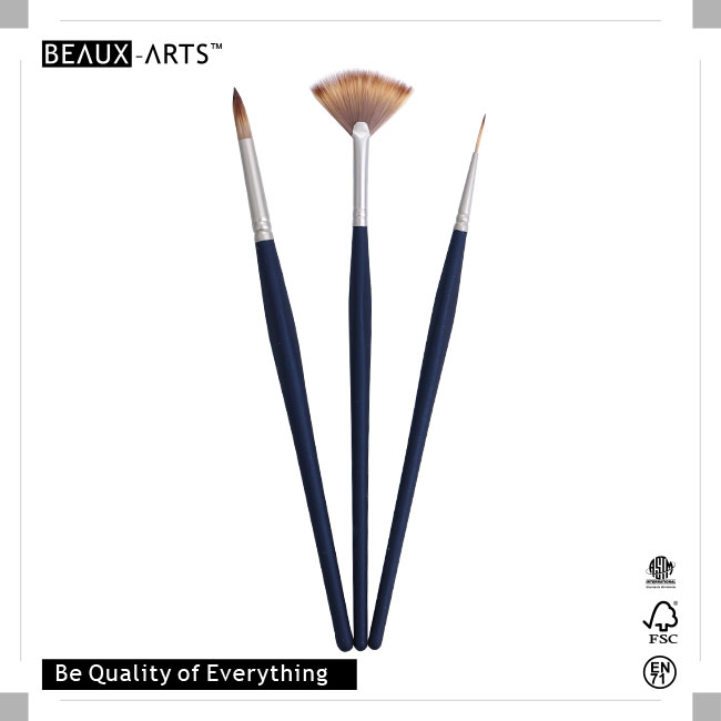 Amazing Brush Sets with Pearl Nickle Plated Brass Ferrule and Imitation Mongoose Hair, Perfect for Artists