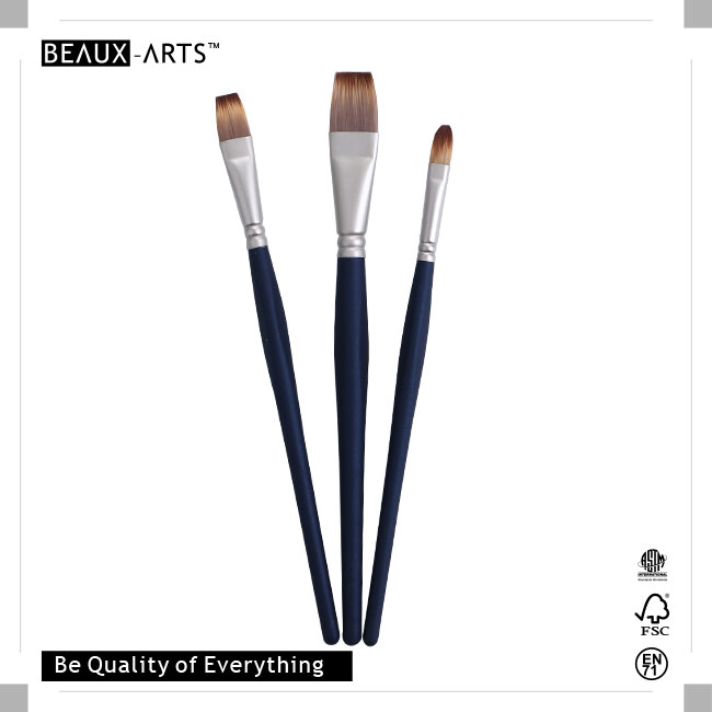 New Types of Brushes Definition with Medium Length Triangle Easy Grip Comfortable Touch Wooden Handle, Perfect for Students or Professional Usage