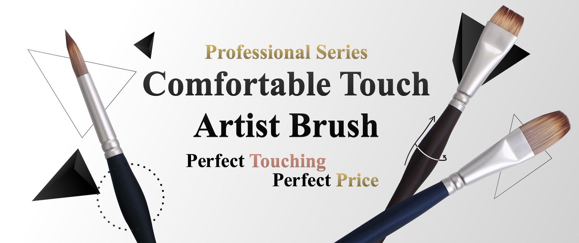 Promotion of June: Comfortable Touch Art Paint Brush sets