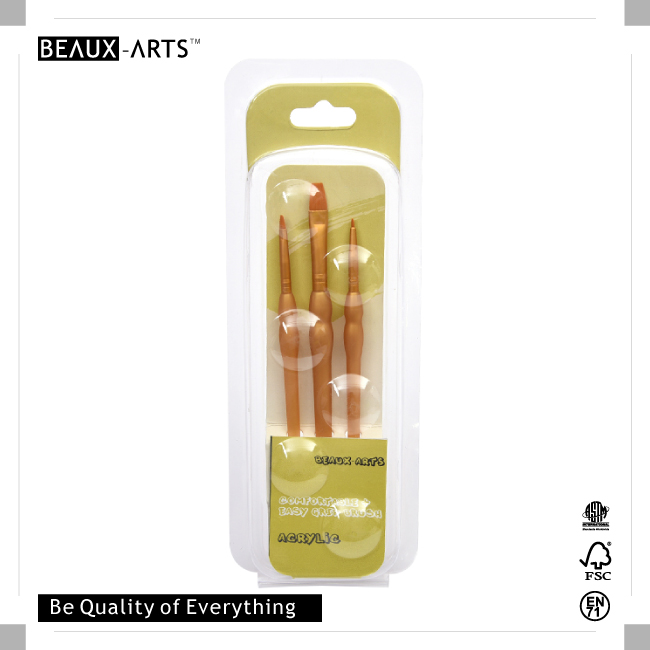 comfortable touch acrylic artist paint brush set with golden