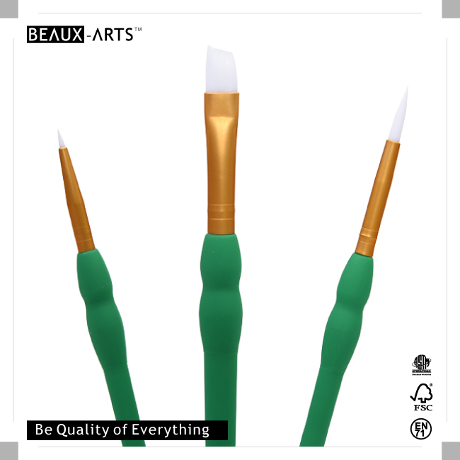 Easy Grip Artist Brush Comfortable Touch Artist Paint Brush for Acrylic Painting