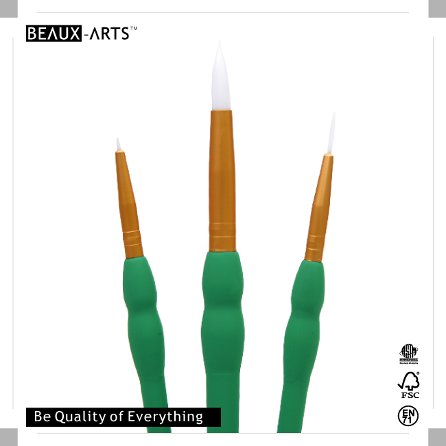 Artist Paint Brush Set for Acrylic Painting with White Synthetic Hair