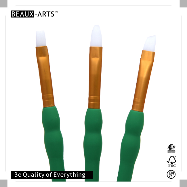 White Synthetic Artist Paint Brush Set Perfect for Students and Beginners