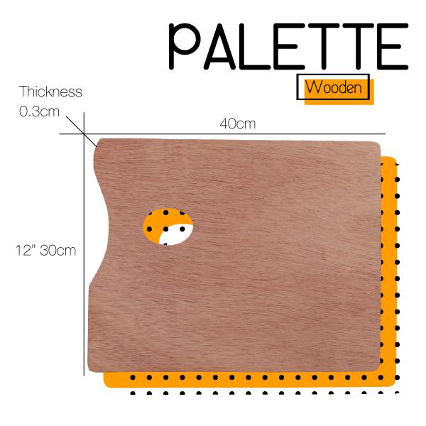 Square Wooden Paint Palette