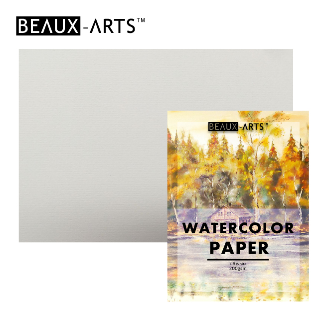 200g Cotton White Texture Watercolor Paper Pad for Artist Painting